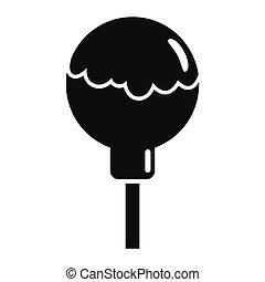 Choco lollipop icon, simple style - Choco lollipop icon. ...