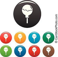 Choco lollipop icons set color - Choco lollipop icons set 9 ...