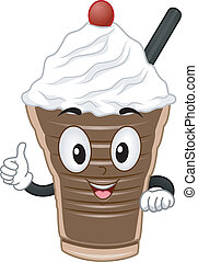 Choco Shake Mascot - Mascot Illustration Featuring a...