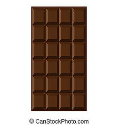 chocolade, bar.