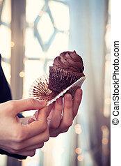 chocolade, cupcake