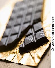 chocolade, donker, vlakte