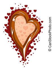 chocolade, illustratie, vector