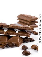 chocolade, koffie bonen