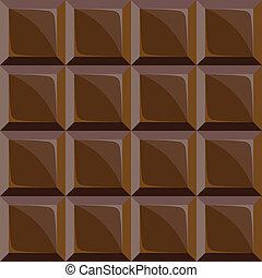 chocolade, model, bar, seamless