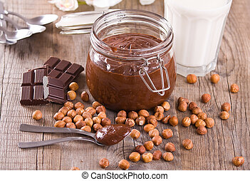 chocolade, spread., hazelnoot