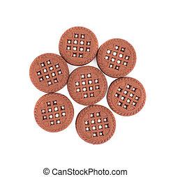 chocoladekleurig biscuit