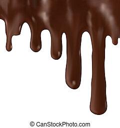chocolat, égouttement