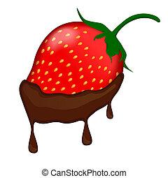 chocolat a couvert, fraise