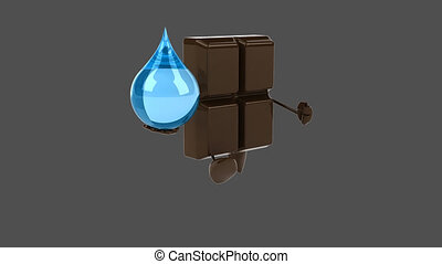 chocolat, animation, -, numérique