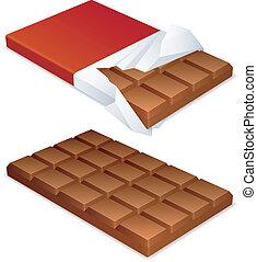 chocolat, bar.