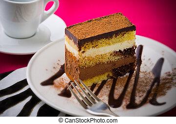 chocolat, café, mousse