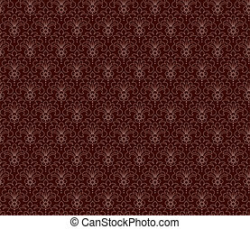 Chocolat color vintage seamless