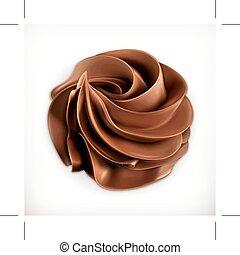 chocolat, crème fouettée