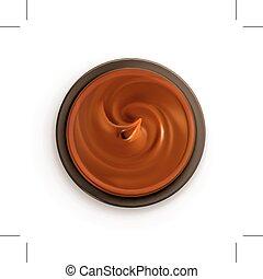 chocolat, crème