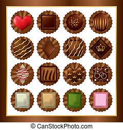 chocolat, ensembles