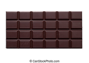 chocolat, est, isolé