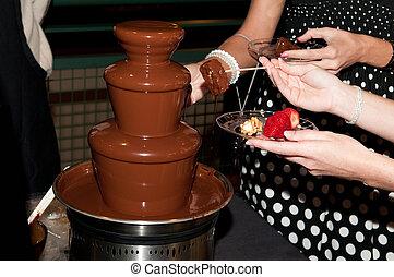 chocolat, fontaine, mariage