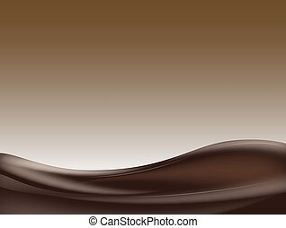 chocolat sombre, vague