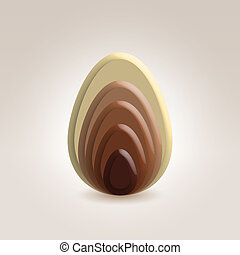 chocolate abstract figure