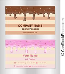 chocolate and doughnut glaze theme business card