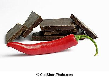chocolate and peperoni