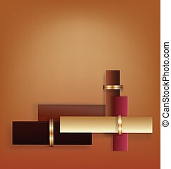 Chocolate Art Deco geometric background