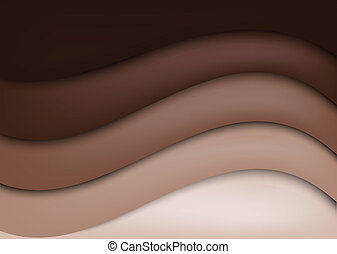 Chocolate background - Bright wavy chocolate background....