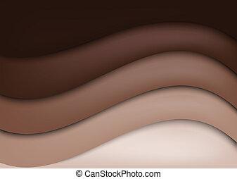 Chocolate background - Bright wavy chocolate background....