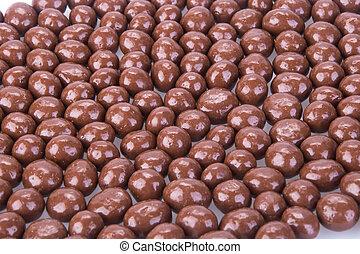chocolate balls. chocolate balls on a background