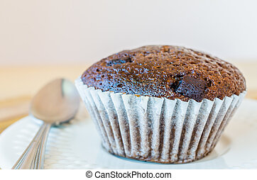 Chocolate banana cupcake