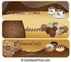 chocolate, bandeiras, abstratos