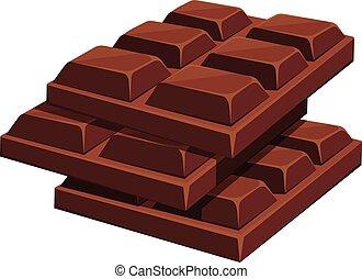 Chocolate bar. Vector cartoon illustration