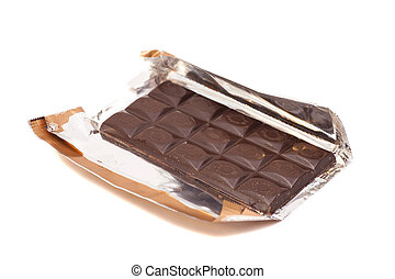 chocolate bar in foil.