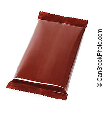 Chocolate Bar In Plastic Wrapping
