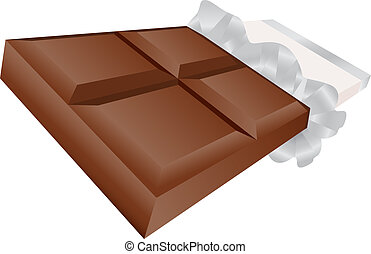 Chocolate Bar isolated on a white background.