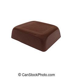 Chocolate bar isolated on white
