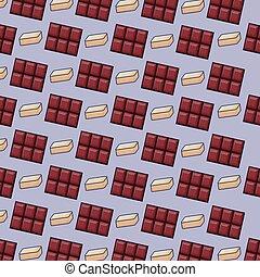 chocolate bars icon pattern