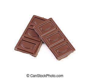 Chocolate bars isolated