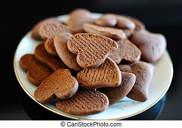 biscuits in the shape of a heart