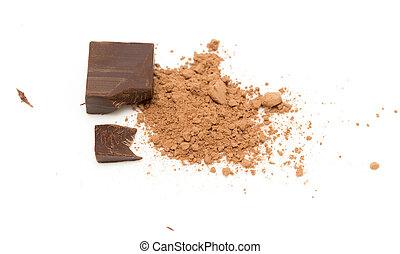 chocolate, blanco, plano de fondo