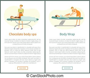 Chocolate body Spa and Legs Wrap in Spa Salon Web