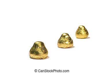 chocolate bonbon - series object on white: chocolate bonbon
