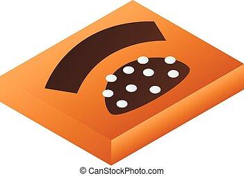 Chocolate box icon, isometric style