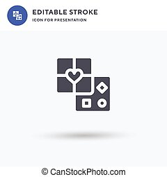 Chocolate Box icon vector, filled flat sign, solid pictogram isolated on white, logo illustration. Chocolate Box icon for presentation.