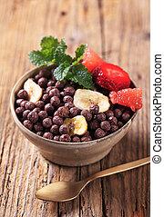 Chocolate breakfast cereal
