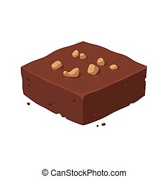 Chocolate brownie square - Chocolate fudge brownie square...
