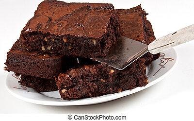 Chocolate Brownies With Spatula