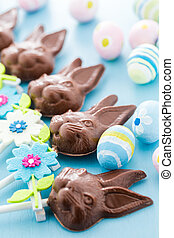 Chocolate bunnies - Easter chocolate bunnie pops made from...