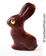 Chocolate Bunny 2 - Chocolate Easter Bunny. Path included in...
